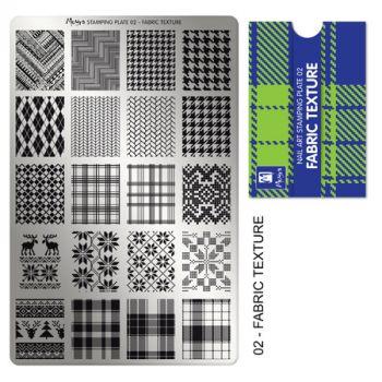 Moyra Stempelplaat 02 Fabric Texture