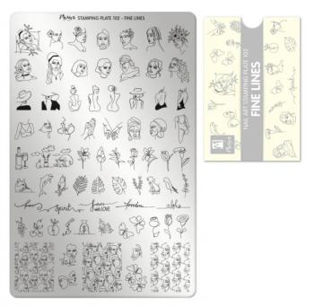 Moyra Stempelplaat 102 Fine Lines
