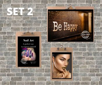 Urban Nails Posters Set 2 + Klemborden