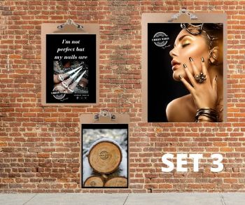 Urban Nails Posters Set 3 + Klemborden