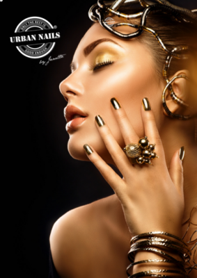 Urban Nails Poster A3 Golden Lady