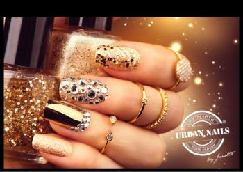 Urban Nails Poster A3 Golden Glitter Nails