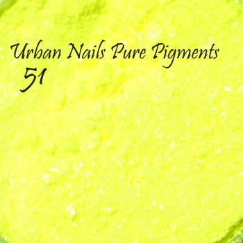 Urban Nails Pure Pigment 51 Neon Shimmer Geel