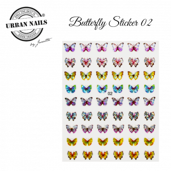 Urban Nails Butterfly Sticker 02
