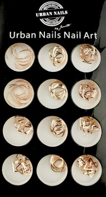 Urban Nails Charms in a Box Rosegold