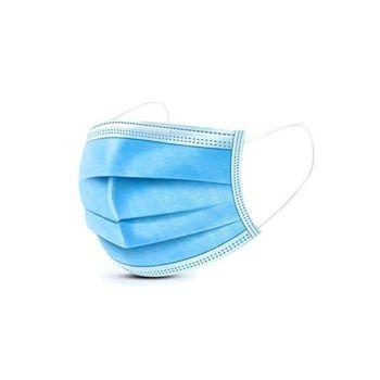 Mondmasker/ mondkapje wegwerp blauw 50 stuks