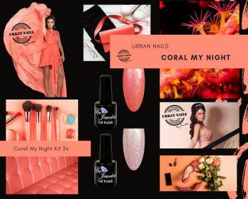 Urban Nails Coral My Night Gelpolish Kit