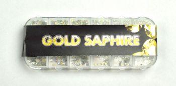 Urban Nails Gold Saphire Rhinestones