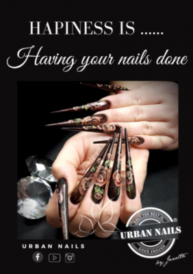Urban Nails Poster A4 Happiness