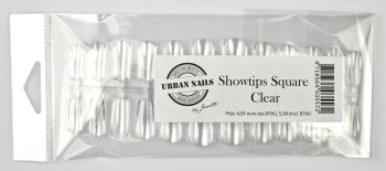 Urban Nails Press On / Showtips Square Clear 72 Tips