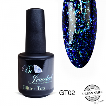 Urban Nails Glitter Top 02 Blauw