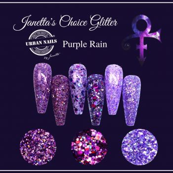 Urban Nails Janetta's Choice Limited Glitter Purple Rain