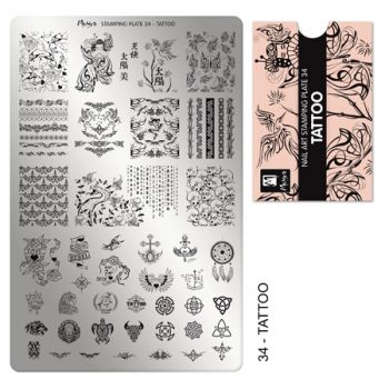 Moyra Stempelplaat 34 Tattoo