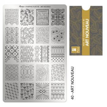 Moyra Stempelplaat 40 Art Nouveau
