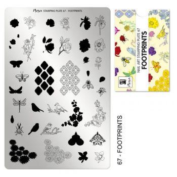 Moyra Stempelplaat 67 Footprints