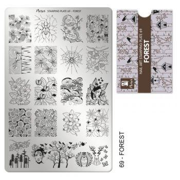 Moyra Stempelplaat 69 Forest