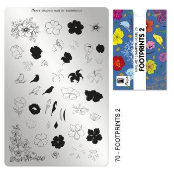 Moyra Stempelplaat 70 Footprints-2