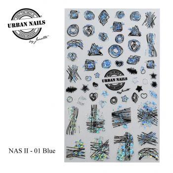 Urban Nails Nail Art Sticker II Blue 01