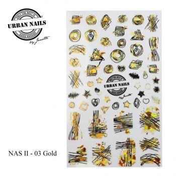 Urban Nails Nail Art Sticker II Gold 03