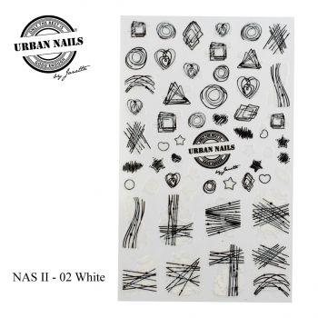 Urban Nails Nail Art Sticker II White 02