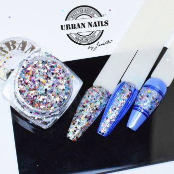 Urban Nails Blue Glitter / Pareltje Week 26