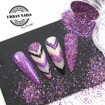 Urban Nails Purple Glitter / Pareltje Week 34