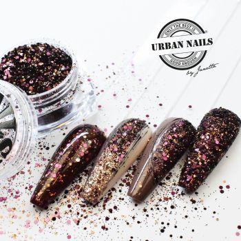 Urban Nails Plum Glitter / Pareltje Week 40
