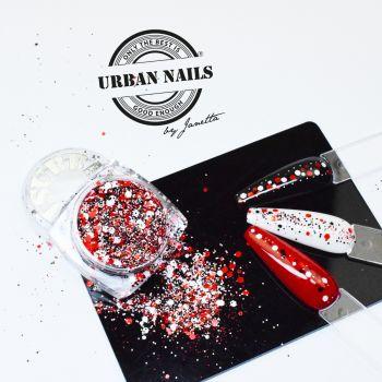 Urban Nails Red Glitter / Pareltje Week 27