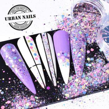 Urban Nails Pastel Glitter Mix / Pareltje Week 35