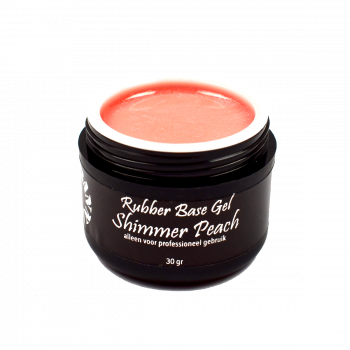 Urban Nails Rubber Base Gel Shimmer Peach 30ml