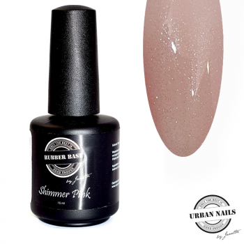 Urban Nails Rubber Base Gel Shimmer Pink Silver