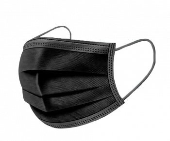 Mondmasker/ mondkapje wegwerp zwart 50 stuks