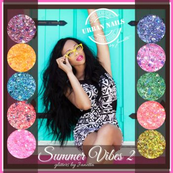 Urban Nails Summer Vibes 2.0 Glitter Collection