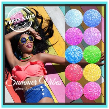 Urban Nails Summer Vibes Glitter Collection