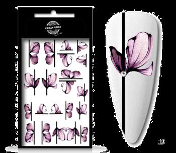 Urban Nails Waterdecals Flower Garden 19